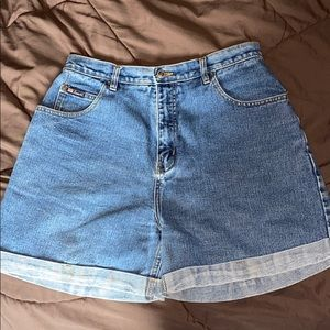 Route 66 Rolled Up Hemmed Shorts